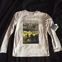 Gap Fit Boys Gray Long Sleeves Dri-Fit Trainer Tee Shirt Size S 6 7 Nwt Photo