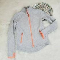 Gap Fit Womens Athletic Zip Front Sweatshirt Jacket Size Xs Gray Thumbholes 1175 Photo