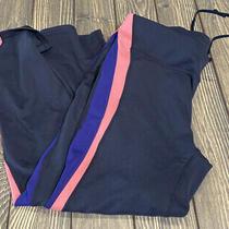 Gap Fit Womens Gray Pink Purple Gfast Athletic Capri Size Medium Photo
