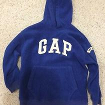 Gap Fleece Hoodie Pullover Blue Boys Girls Size M Photo