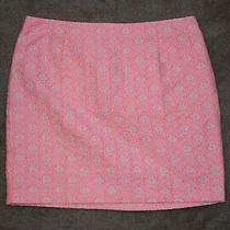 Gap Fluorescent Pink Patterned Skirt Size 10 Photo