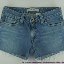 Gap Frayed Hem Curvy Jeans Shorts Womens Sz 6 8 Sehb Photo