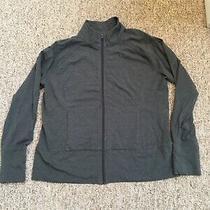 Gap Full Zip Up Stretch Jacket Sweatshirt Gray Size Xl Photo