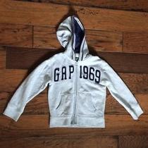 Gap Gapkids Xs Gray Cotton Hoodie Kids 4/5 Photo
