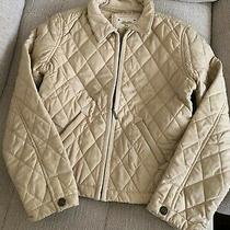 Gap Girl Quilted Jacket in Color Beige Size Xxl. Photo