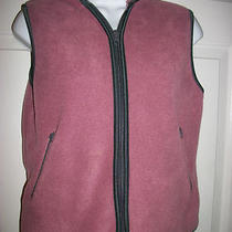 Gap Girl's Pink & Gray Zippered Hooded Fleece Vest Size Xxl Photo