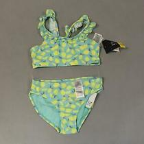 Gap Girl's Ruffle Lemon Swim Two-Piece Bikini Os6 Multicolor Medium Nwt Photo