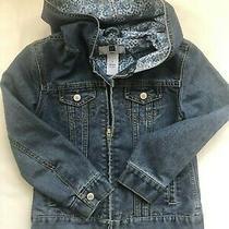 Gap Girl's Vintage Denim Hooded Jean Jacket Small 6 7 S Euc  Zip Front Photo
