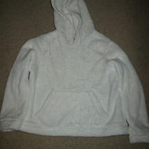 Gap Girl Super Soft Hoodie  White Size 6-7 Photo