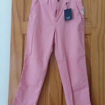 Gap Girlfriend Chino Ankle Mid Rise Pants Size 8 Coral Frost Stretch Nwt 59.95 Photo