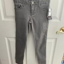Gap Girls 7 High Stretch Super Skinny Adjustable Waist Gray Jeans Photo