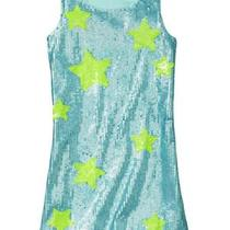 Gap Girls  Aqua Clear Ocean Star Sequin Dress 39.95 Size 10 Bnwt  Photo