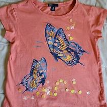Gap Girls Butterfly Bling Top Tee.  Euc Sz 8 Photo