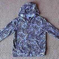 Gap Girls Cheetah Animal Print French Terry Full Zip Hoodie Xxl 14 16 Yrs Gray Photo