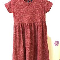 Gap Girls Flowers Pink Red Dress Baby Look Size Xxl Photo