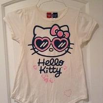 Gap Girls Junk Food Hello Kitty Shirt Nwot Size 8 Medium Sunglasses Off White Photo