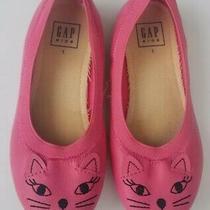 Gap Girls Kids Shoes Cat Kitten Ballet Flats Pink Size Us 1 - Euc Xmas Present Photo