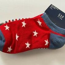 Gap Girls Medium No Show Socks Red/white/blue Shoe Size 13 -2 New Photo