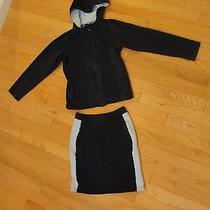 Gap Girls Navy &  Lt Blue Hoodie & Matching Skirt Set s(6-7)skirt & Hoodie Is M Photo
