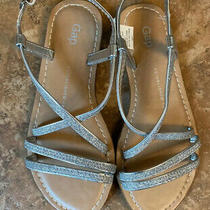 Gap Girls Silver Glittery Sandals -Size 13 - Nwt Never Worn Photo