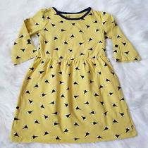 Gap Girls Skater Fit and Flare Bird Cotton Blend Dress Yellow Navy Size 5 Photo