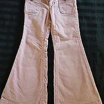 Gap Girls Slim 5 Pink Cotton Velvet Bell Bottom Pants Photo