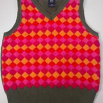 Gap Girls Sweater Vest Muilti Colored Diamond Patterns Size 6/7 S Photo