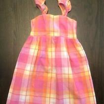 Gap Girls Toddler Girl 4t Pink Plaid Summer Spring Colorful Checkered Dress Photo