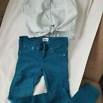Gap Girls Top and Hudson Jeans Corduroy Pants Flap Pocket Size 7/8 Photo