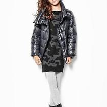 Gap Girls Warmest Moto Shine Puffer Jacket Coat Cast Iron Grey Size m(8) Photo