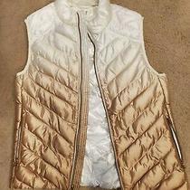 Gap Gold Ombre Print Puffer Vest M Photo
