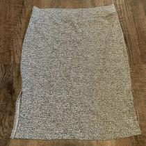 Gap Gray Marl Heavy Thick Knit Basic Skirt Elastic Waist Size L New With Tags Photo