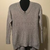 Gap Gray Pullover Long Sleeve Knit Sweater Woman's Size Xs Photo