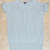 Gap Gray Shirt Buttons on Sleeves Size Large Photo