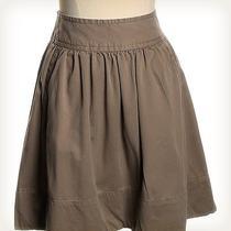 Gap Green Solid Skirt Sz 0 a-Line Photo