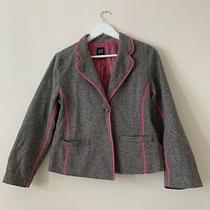 Gap Grey Blazer Lined Size 8 Photo
