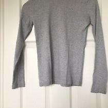 Gap Grey Long Sleeve Cotton T/shirt Size Xs Photo