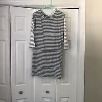 Gap Grey & White Striped 3/4 Sleeve Dress Size S Photo