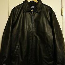 Gap - Half Belt Leather Jacket - M - Black Photo