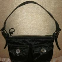 Gap Handbag Satin Black Sleek Bling  Photo