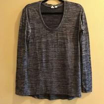 Gap Heather Blue Knit Long Sleeve Shirt Womens Size Xs Photo