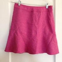 Gap Heathered Bright Pink Fluted Wool Skirt -4- Worn Once Photo