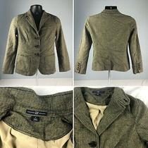 Gap Herringbone Tweed Wool Blazer Beige  Black Womens Size 4 Blazer Jacket Photo