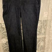 Gap Hip Slung Fit Size 8 Ankle Dark Navy Denim Jeans With Rear Flap Pockets Photo