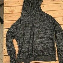 Gap Hooded Sweatshirt Soft Blend Medium Heather Black Photo