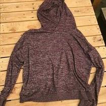 Gap Hooded Sweatshirt Soft Blend Medium Heather Burgandy Photo