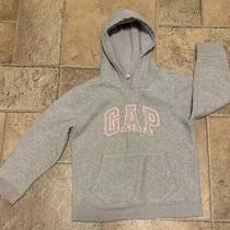 Gap Hoodie Jacket Gray With Pink Words Sweatshirt Girls Boys Size M ( 8 ) M Photo