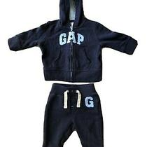 Gap Hoodie Sweatpants Set Baby 3-6 Months Sweat Suit Great Condition Blue Photo