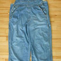 Gap Industrial Denim Overall Bib Jeans Grunge Ranch Women Size Xl 1990's Vintage Photo