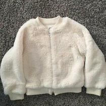 Gap Ivory Faux Fur Jacket Girls Size Xs 4-5 Photo